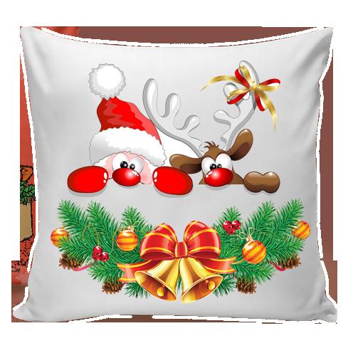 Декоративная новогодняя подушка