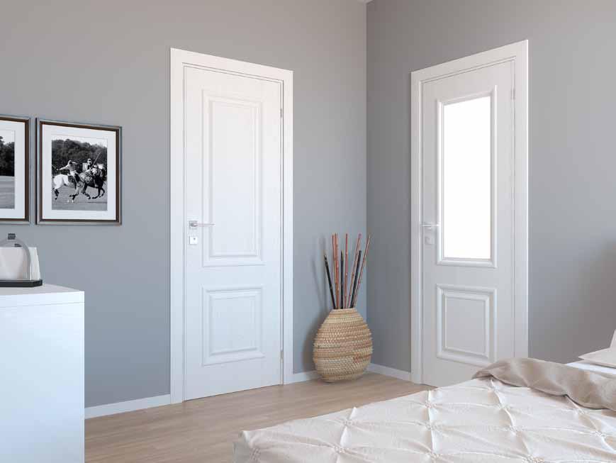 AVALON Двери межкомнатные RODOS с ПВХ покрытием стекло