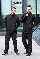 Soft Shell Мужские зимние брюки софтшелл на флисе влагоустойчевые MAW man&wolf