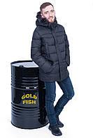 Зимняя мужская куртка черная Black Wolf 717
