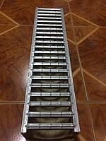 Комплект: Лоток  полимербетонный H100 с оцинкованной решеткой