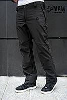 Soft Shell Мужские горнолыжные брюки софтшелл на флисе влагоустойчевые MAW man&wolf
