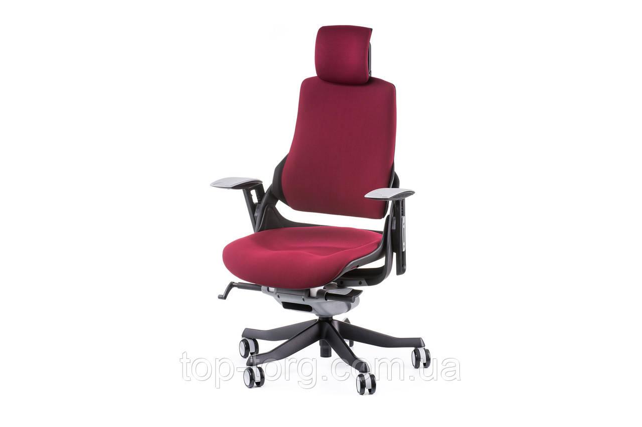 Кресло офисное WAU BURGUNDY FABRIC, бордовый цвет