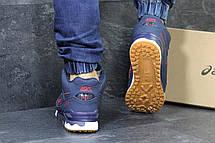 Высокие кроссовки Asics GEL LYTE III кожаные,темно синие, фото 3