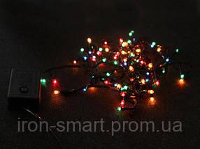 Гирлянда электрическая 100 ламп / RGB / 8 режимов