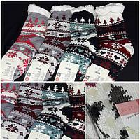 Яркие носочки на качественном искусственном меху, стопперы, разные расцветки, 39-42 р-ры, 205/143
