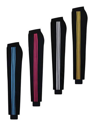 Батальные спортивные брюки - с манжетами