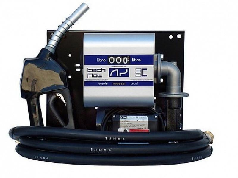 Мобільний заправний вузол для дизельного палива з витратоміром WALL TECH 60, 12В/24В, 60 л / хв