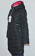 Куртка женская зимняя FINEBABYCAT|089| с капюшоном черная