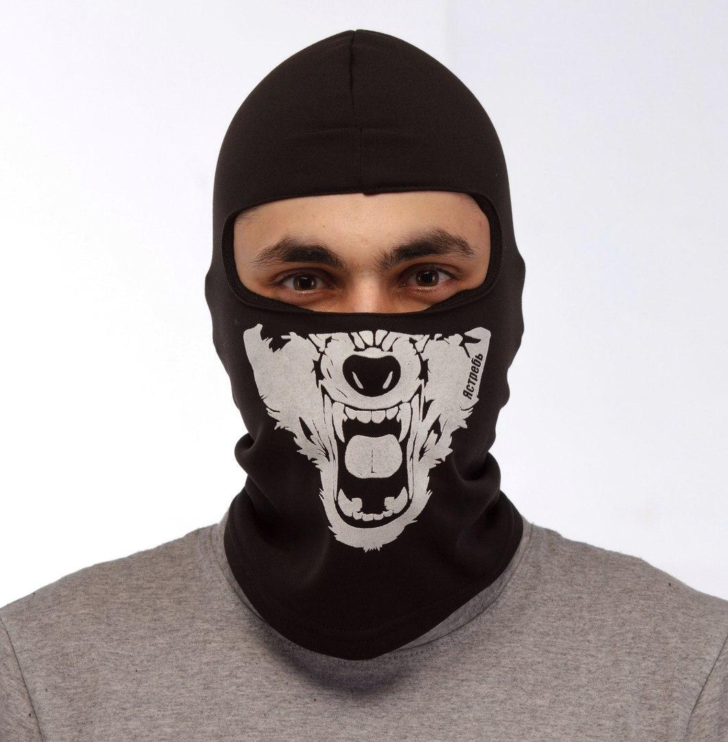 """Зимняя маска балаклава """"Волк"""""""