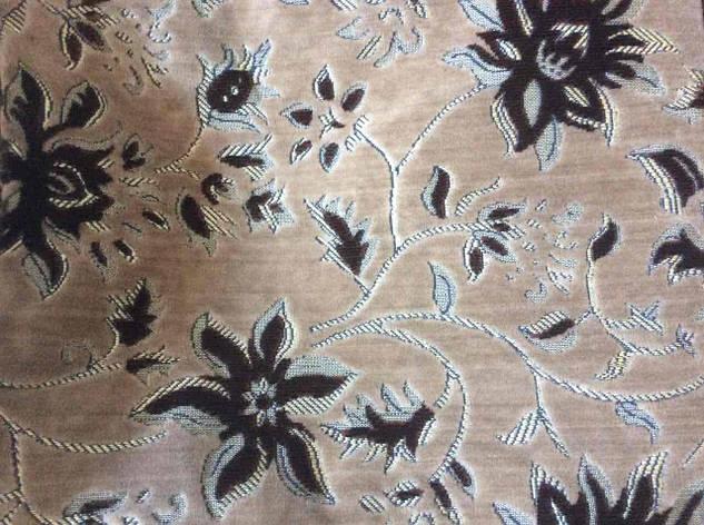 Бежевое полуторное гобеленовое покрывало на кровать 145х200, фото 2