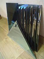 Плитка зеркальная зеленая, бронза, графит треугольник 200мм фацет 15мм.зеркальная плитка с фацетом.