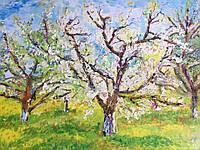 Картина «Яблони цветут» 60*80см, холст, масло