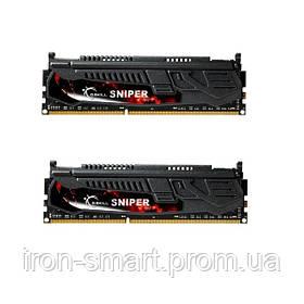 Память 4Gb x 2 (8Gb Kit) DDR3, 1600 MHz (PC3-12800), G.Skill Sniper LV, 9-9-9-24, 1.35V, с радиатором (F3-12800CL9D-8GBSR1)