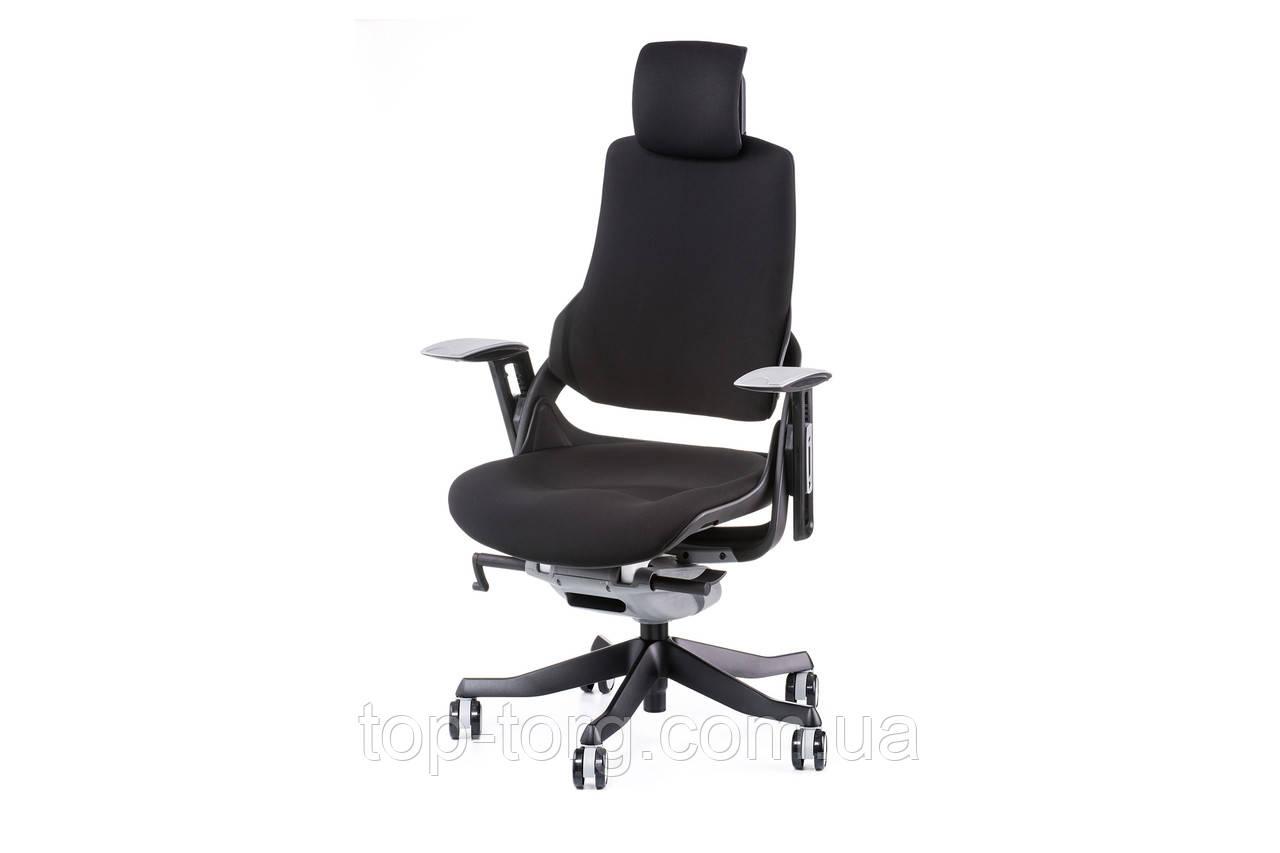 Крісло офісне WAU BLACK FABRIC, комп'ютерне, керівника, чорний