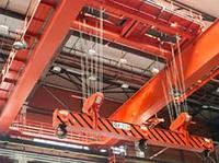 Кран мостовой двухбалочный специальный с траверсой г/п 16 т.