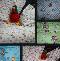 Детские комплекты постельного белья в кроватку110*140 из фланели