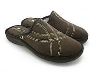 Мужские тапочки, домашняя обувь SPESITA, эргономичная подошва, коричневый (41-46)
