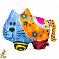 Антистрессовая игрушка мягконабивная Soft Toys Кіт, в цветочек, 2720см