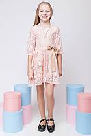 Праздничное гипюровое платье для девочки и подростка, фото 1