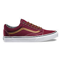 Кеди\Кеды Vans Old Skool - Port Royal Burgundy/Stripe (оригинал олд скул)