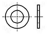 Шайба круглая SKM2.5U (BN2.5/B715)