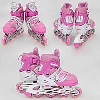 Ролики роликовые коньки роздвижные безшумные мягкий прочный ботинок с 24 по 43 розмер все цвета в наличии