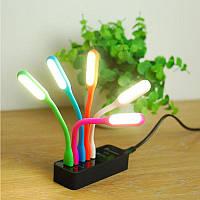 Гибкий мини USB LED светильник 1.2Вт как подсветка в машину, для ноутбука