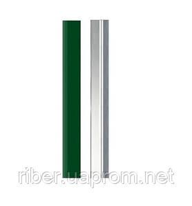 Столб СТАНДАРТ КОЛОР 60х40х1,2мм высота 2,5м (оц.+полимер)