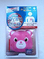 "Вирус-блокер ""Аэро Доктор""  Бейджик (Розовый Мишка) -на 30 дней ( Япония), фото 1"