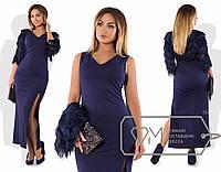 Вечернее платье больших размеров с болеро
