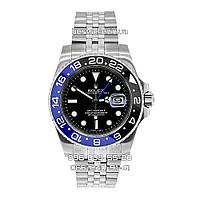 Годинник Rolex GMT Master II 40mm Silver/Black/Blue (Механіка). Клас: AAA., фото 1
