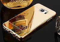 Чехол бампер для Samsung Galaxy S7 Edge зеркальный Брак