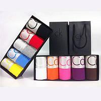 ПОДАРОЧНЫЙ НАБОР - 5шт\уп - Мужские трусы БОКСЕРЫ  Calvin Klein CK (Кельвин Кляйн)-  мини-шорты на широкой резинке (Модал), 11 цветов