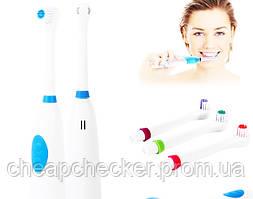 Электрическая Зубная Щетка Electric Revolve Brush Электрощетка на Батарейках Дорожная