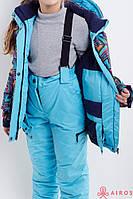 Яркий зимний детский костюм лыжный