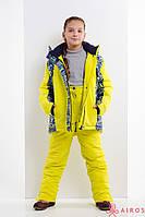 Яркий зимний детский костюм унисекс, лыжный костюм