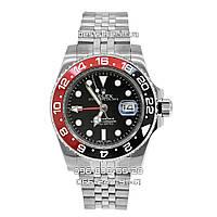 Часы Rolex GMT Master II 39mm Silver/Black/Red (Механика). Replica: AAA., фото 1