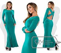 Вечернее платье больших размеров с отрытой спиной
