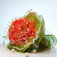 Букет из конфет Коралловая роскошь