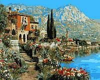 Раскраска для взрослых Очарование Италии (NB871) 40 х 50 см DIY Babylon Premium
