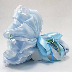 Букет из игрушек Мишки 11 небесно-голубой, фото 3