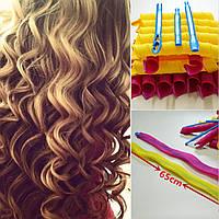 Волшебные бигуди Magic Leverag для длинных волос, крупный локон 65 см. диаметр 3 см. 18 шт. в наборе, фото 1