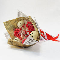 Букет из игрушек Мишки с рафаэлло Крафт