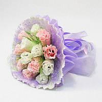 Букет Невесты из конфет 15 нежно-сиреневый