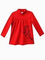 Платье красное с аппликацией для маленькой модницы