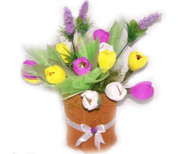 Букет из конфет 19 тюльпанов
