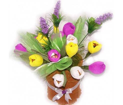 Букет из конфет 19 тюльпанов, фото 2