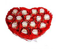 Сердце из конфет Рафаэлло