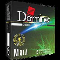 """Оральные презервативы с ароматом мяты Domino Classic """"Минт"""", 3 шт."""